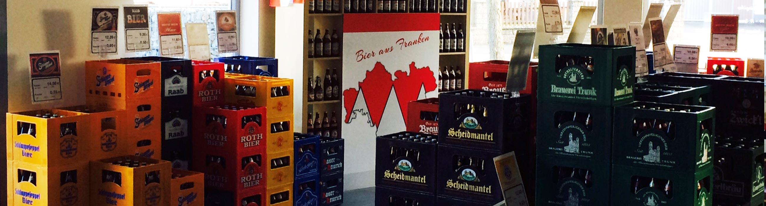 Getränkevertrieb für Selbstabholer und Heimdienst Beyer Hofheim